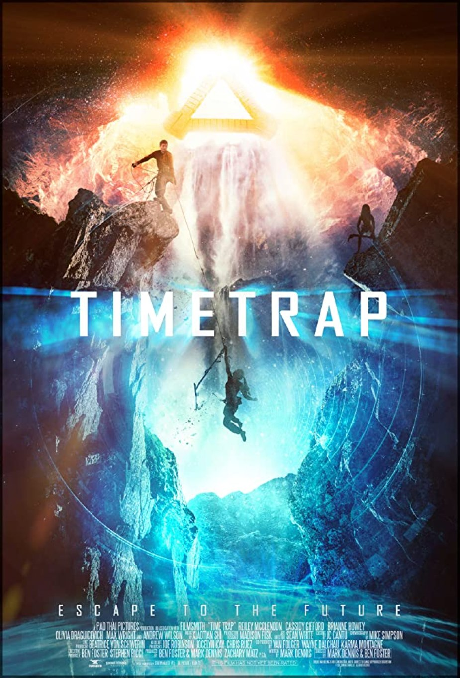 Reiley McClendon, Andrew Wilson, Cassidy Gifford, Olivia Draguicevich, Max Wright, Ben Foster, Mark Dennis, and Brianne Howey in Time Trap (2017)