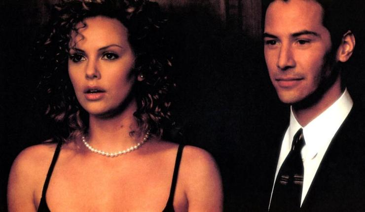 Keanu Reeves and Charlize Theron in The Devil's Advocate (1997)