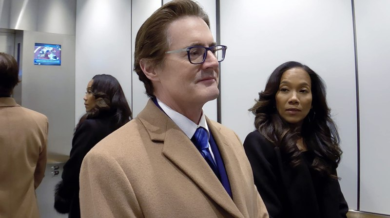 Kyle MacLachlan and Sonja Sohn in High Flying Bird (2019)