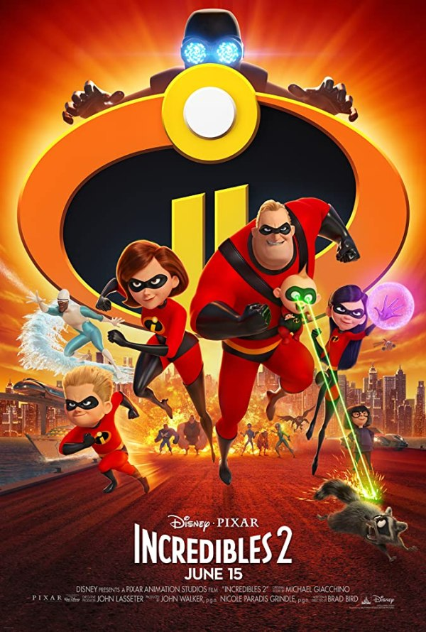 Samuel L. Jackson, Holly Hunter, Craig T. Nelson, Brad Bird, and Huck Milner in Incredibles 2 (2018)