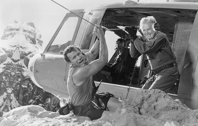 Janine Turner, Michael Rooker, and Ralph Waite in Cliffhanger (1993)