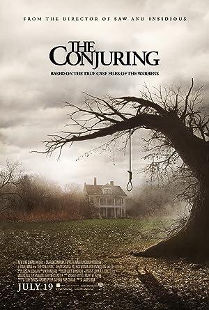 Poster do filme - Invocação do Mal - Corda de suicídio pendurada numa árvore desfolhada e por trás uma casa