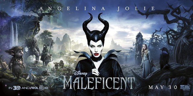 Angelina Jolie and Elle Fanning in Maleficent (2014)