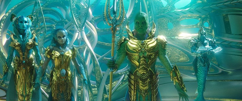 Djimon Hounsou, Natalia Safran, and Sophia Forrest in Aquaman (2018)