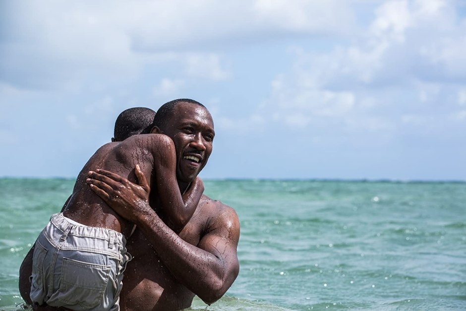 Mahershala Ali and Alex R. Hibbert in Moonlight (2016)
