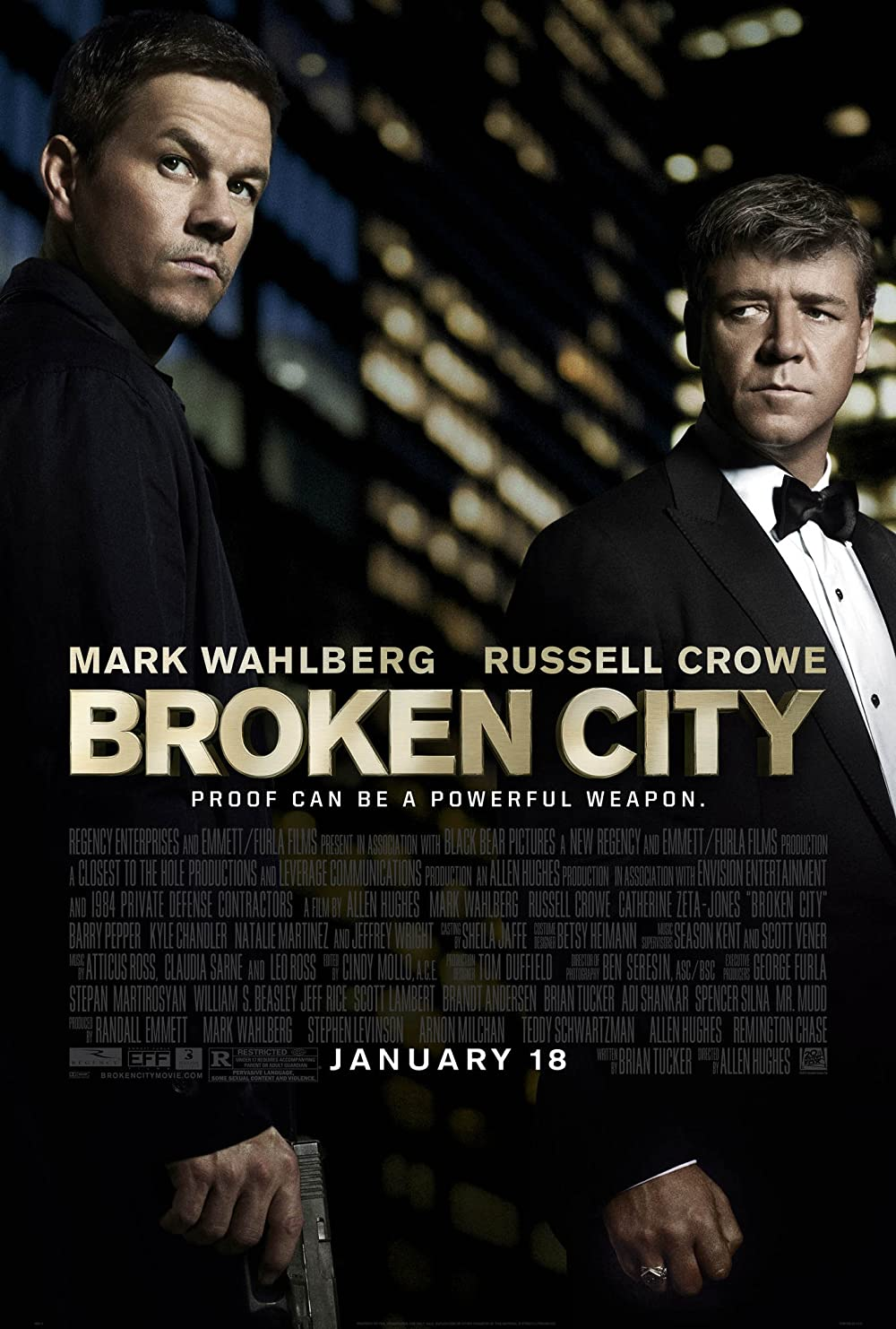 Broken City 2013 Hindi Dual Audio 480p |  720p BluRay x264 AAC 900MB | 400MB Download