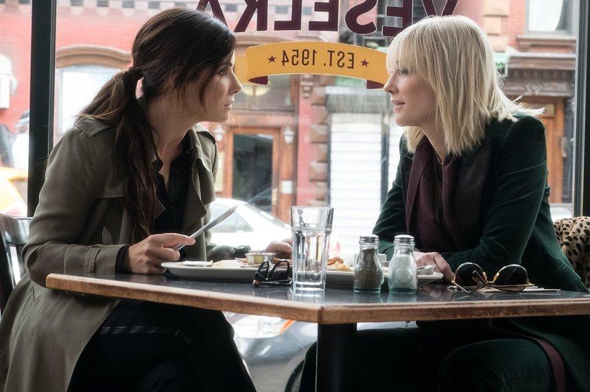 Sandra Bullock and Cate Blanchett in Ocean's Eight (2018)