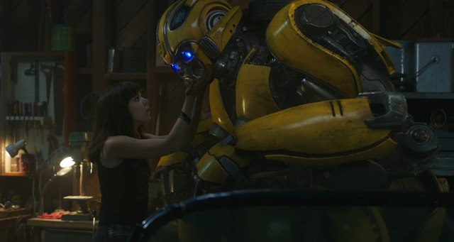 Hailee Steinfeld and Dylan O'Brien in Bumblebee (2018)