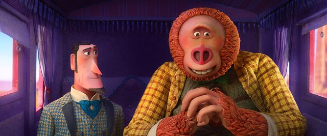 Zach Galifianakis and Hugh Jackman in Missing Link (2019)