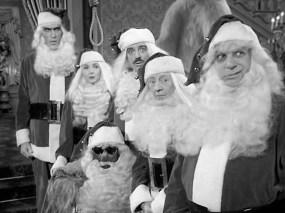 Jackie Coogan, John Astin, Marie Blake, Ted Cassidy, Carolyn Jones, and Felix Silla in The Addams Family (1964)