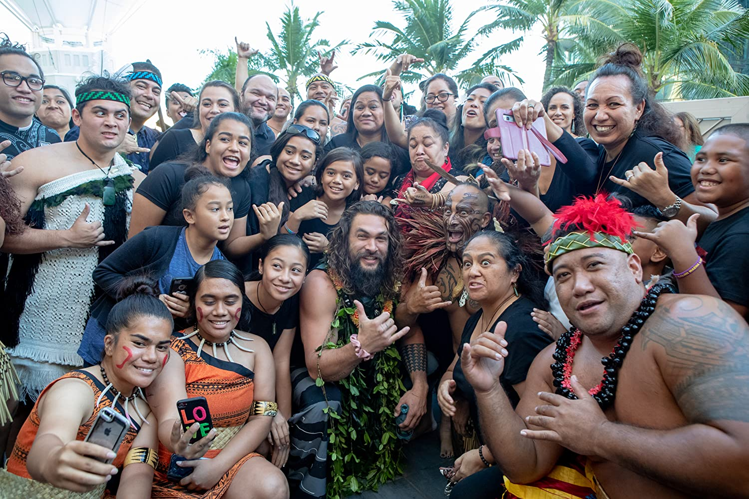 Jason Momoa and Friends. Photo by Darryl Oumi - © 2018 Darryl Oumi - Image courtesy gettyimages.com