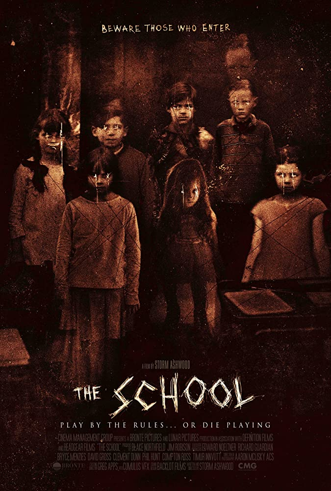 Megan Drury, Nicholas Hope, Storm Ashwood, David Ngo, Aaron McLisky, Jim Robison, Blake Northfield, Sassy Soupidis, Milly Alcock, Leah Ashwood, Jack Ruwald, Texas Watterston, and Will McDonald in The School (2018)