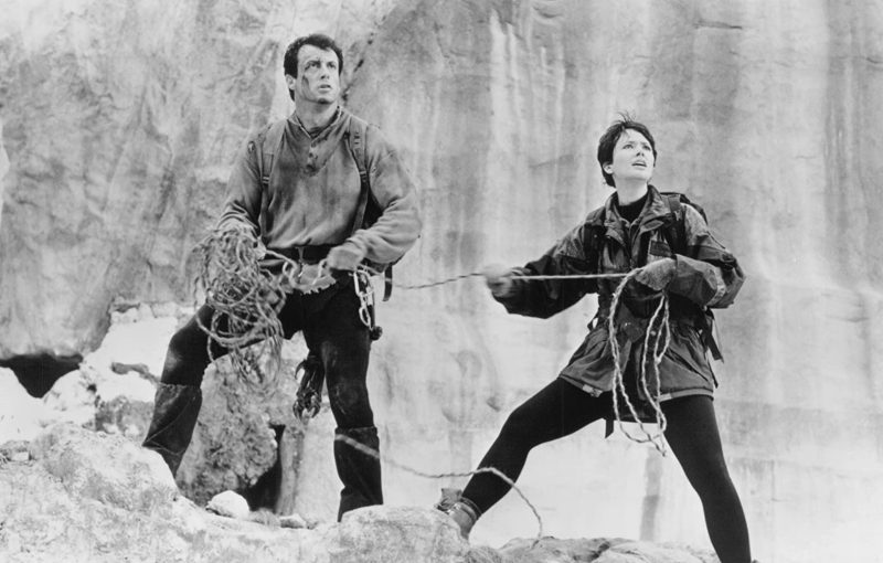 Sylvester Stallone and Janine Turner in Cliffhanger (1993)