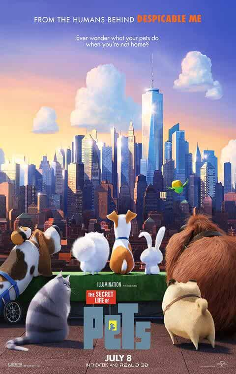Download The Secret Life of Pets (2016) Full Movie In Hindi-English (Dual Audio) Bluray 480p [350MB] | 720p [850MB] | 1080p [3.2GB]