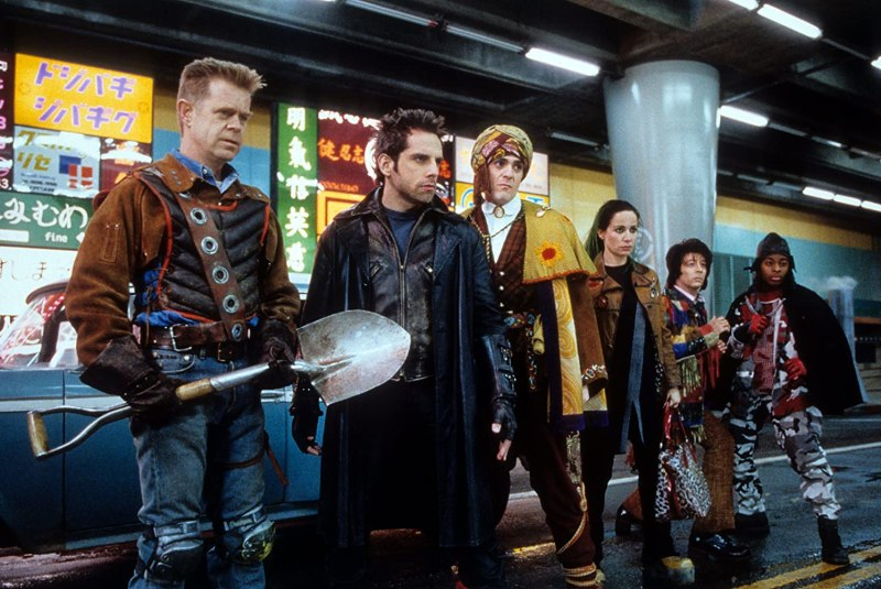 Hank Azaria, Janeane Garofalo, William H. Macy, Paul Reubens, Ben Stiller, and Kel Mitchell in Mystery Men (1999)
