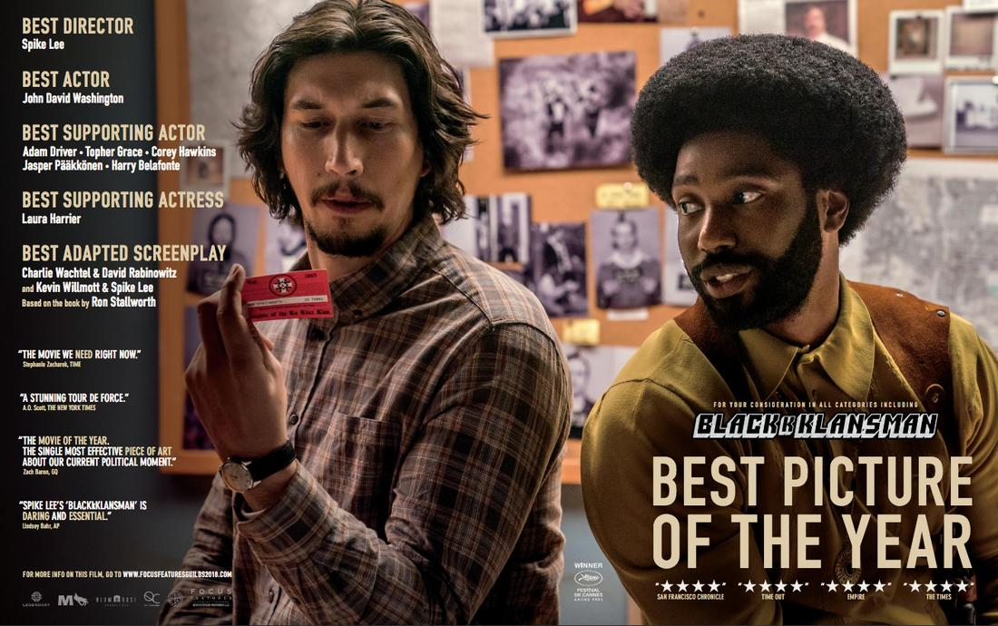 BlacKkKlansman / Focus Features. © 2018. All rights reserved.
