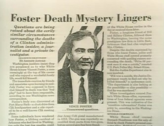 Image result for Vince Foster's death