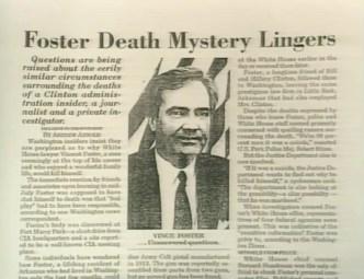 Image result for Vince Foster's death