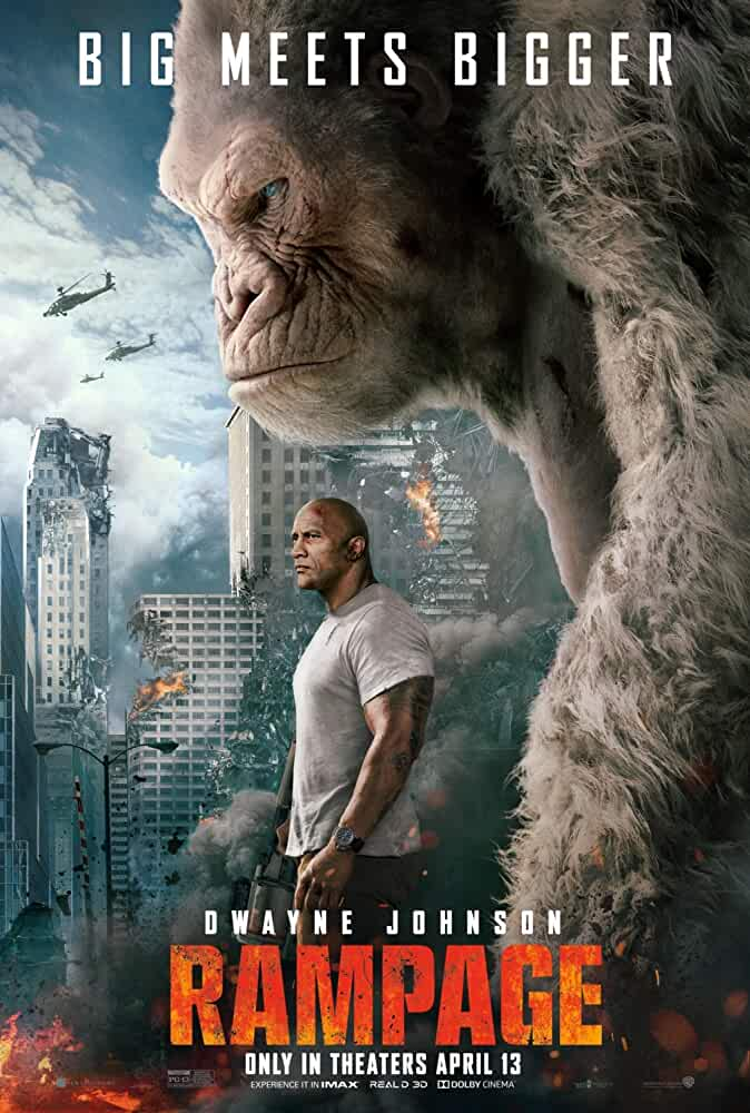 Rampage (2018) Full Movie Download In Hindi-English (Dual Audio) Bluray 480p [360MB] | 720p [1GB] | 1080p [2GB]