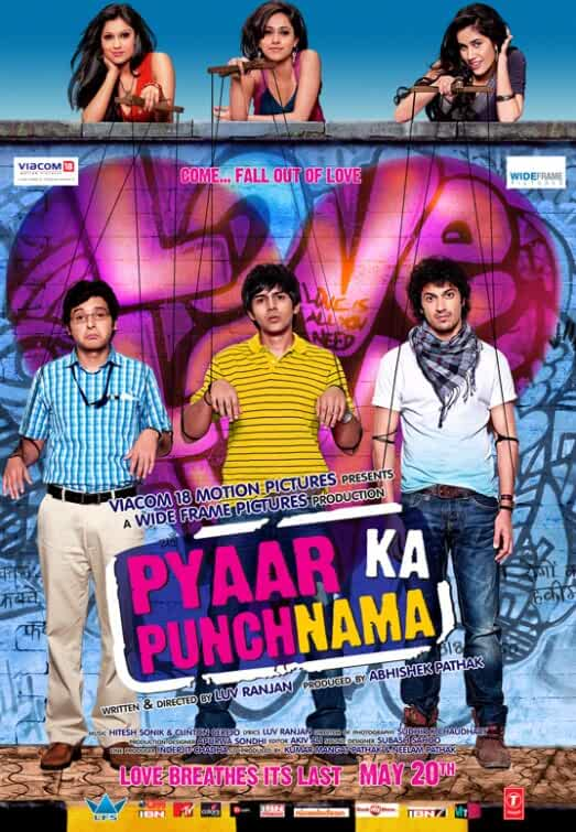 Download Pyaar Ka Punchnama (2011) Hindi Full Movie 720p (900MB) | 480p (400MB)