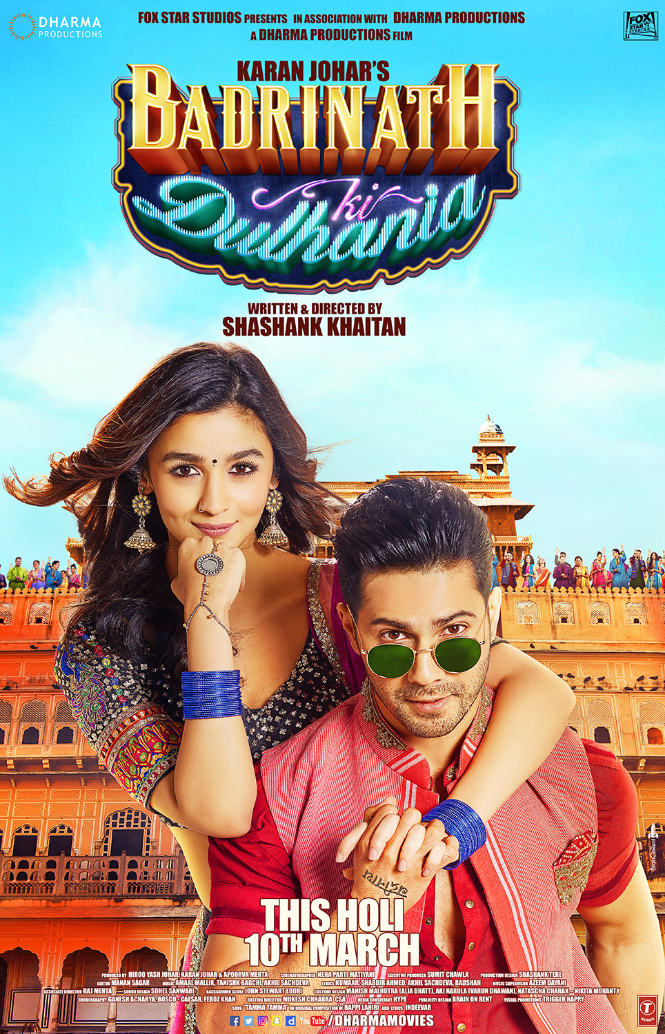 Badrinath Ki Dulhania (2017) Hindi Blu-Ray - 480P | 720P - x264 - 450MB | 1.1GB - Download & Watch Online  Movie Poster - mlsbd
