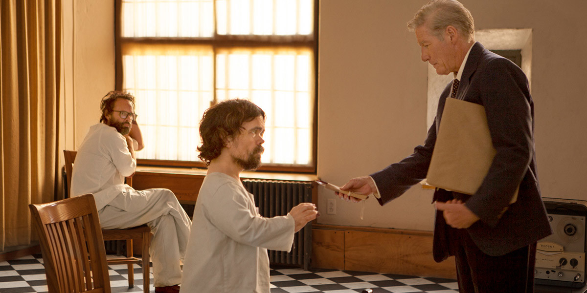Richard Gere, Peter Dinklage, and Walton Goggins in Three Christs (2017)