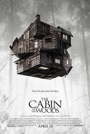 Poster do filme - O Segredo da Cabana - Uma cabana flutuando sobre a floresta