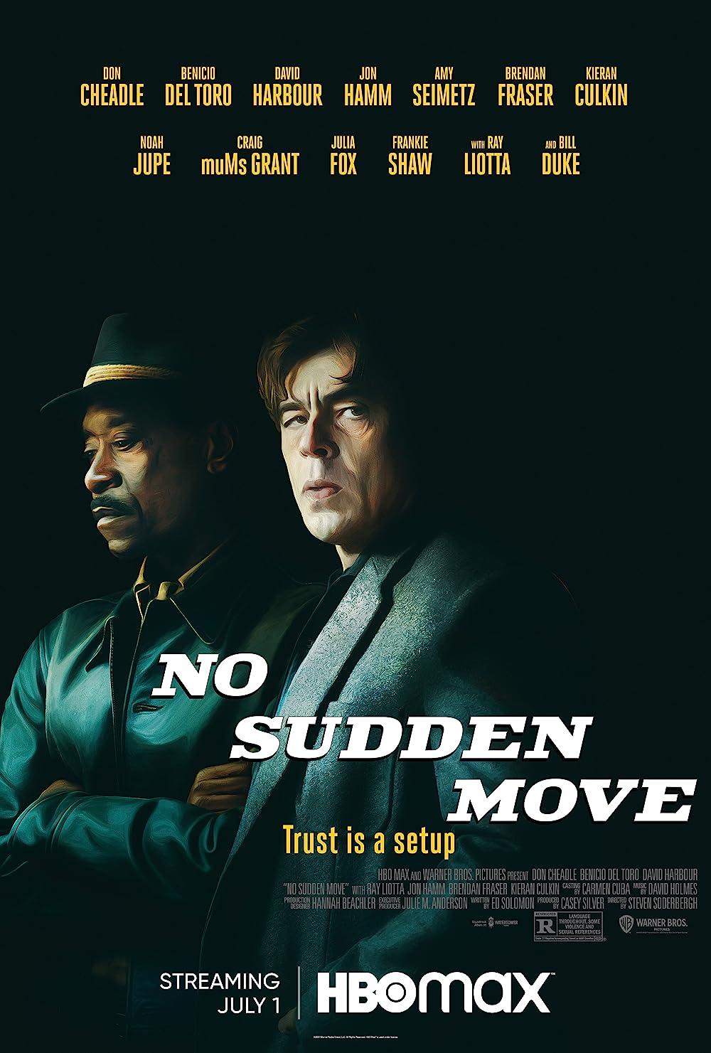 No Sudden Move 2021 English 720p HDRip 900MB Download