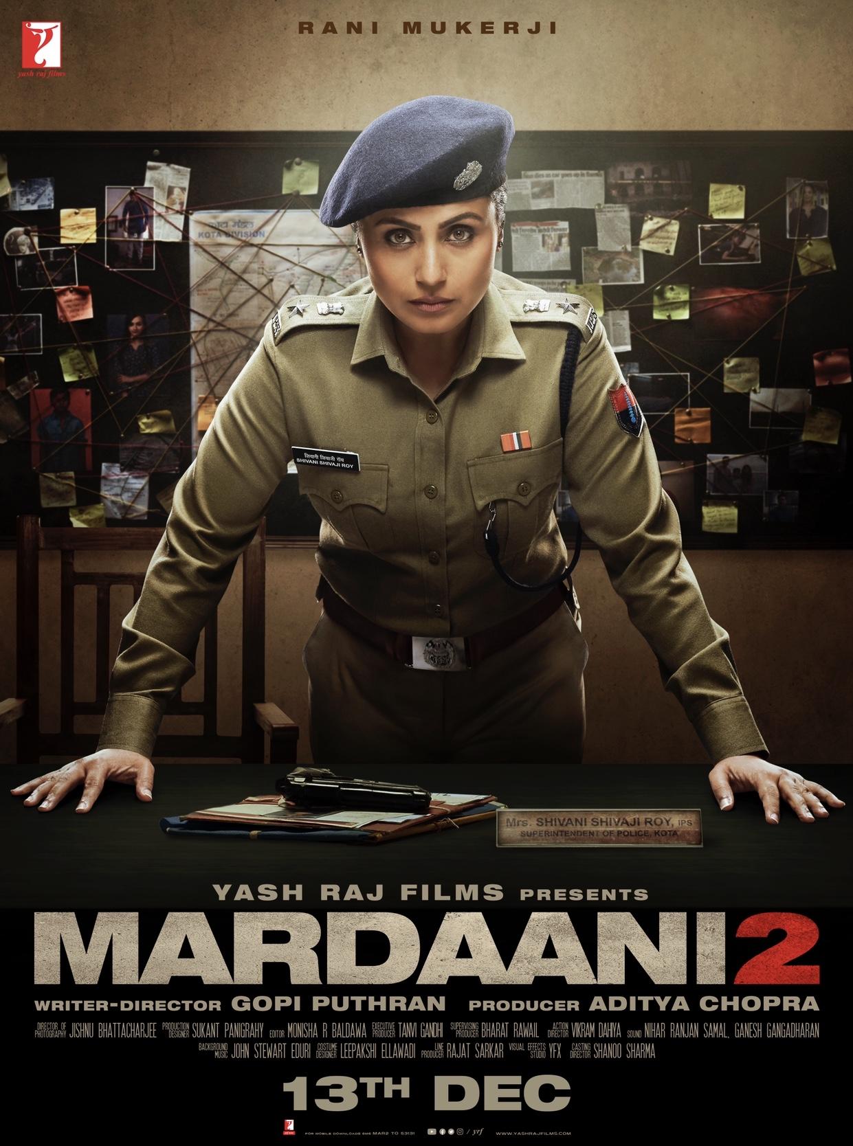 Mardaani 2 (2019) Hindi Amazon WEB-DL - 480P | 720P | 1080P - x264 - 400MB | 1GB | 2.5GB - Download & Watch Online Movie Poster - mlsbd
