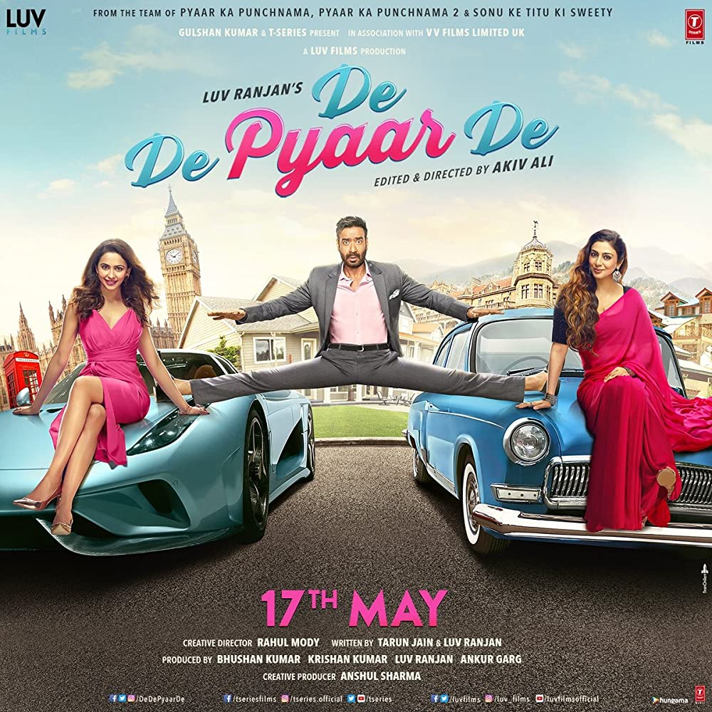 Upcoming bollywood movie De De Pyaar De Cast, Release Date & Trailer