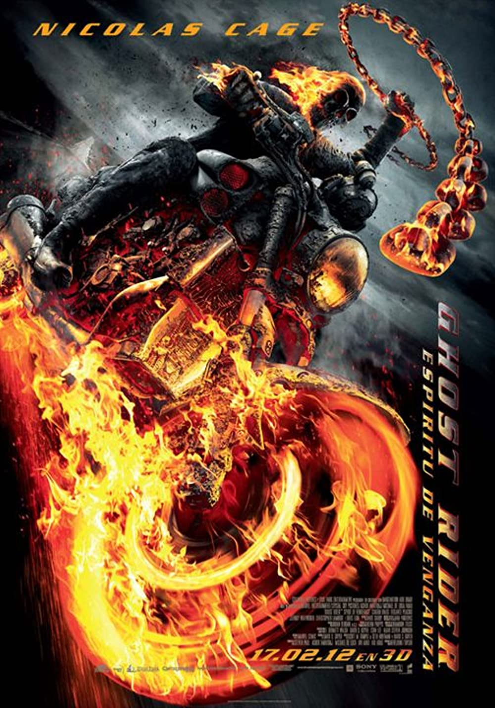 Ghost Rider: Spirit of Vengeance 2011 Dual Audio 720p x264 700MB BluRay [Hindi ORG + English] ESubs