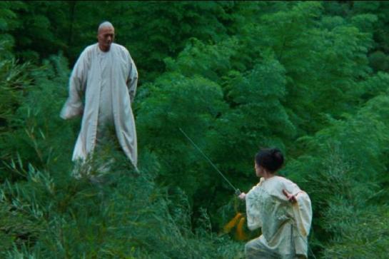 Yun-Fat Chow and Ziyi Zhang in Crouching Tiger, Hidden Dragon.