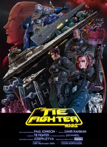 Image result for star wars tie fighter anime