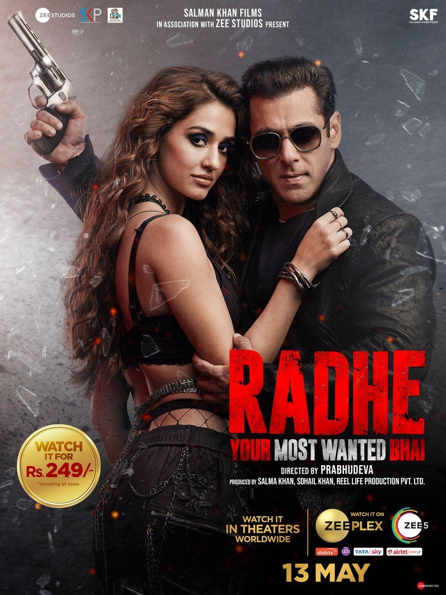 Radhe Your Most Wanted Bhai 2021 Hindi Movie 720p Zee5 HDRip 750MB   345MB Download