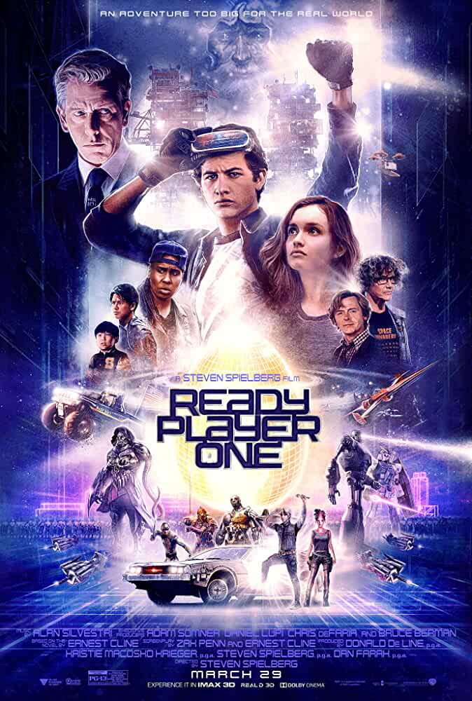 Download Ready Player One (2018) Full Movie English {Hindi Subtitles} 480p [500MB] | 720p [1GB] | 1080p [2GB]