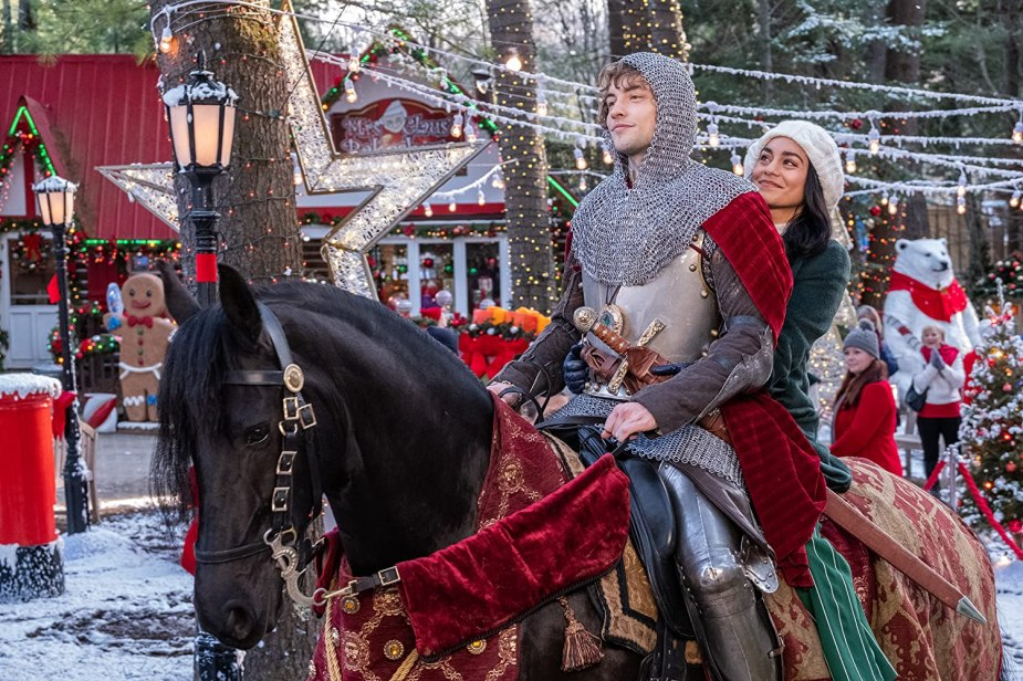 Vanessa Hudgens and Josh Whitehouse in The Knight Before Christmas (2019)