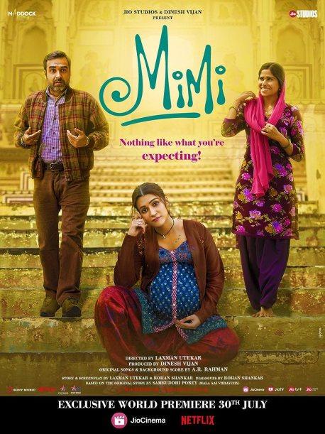Download Mimi 2021 Hindi Movie Official Trailer 1080p HDRip