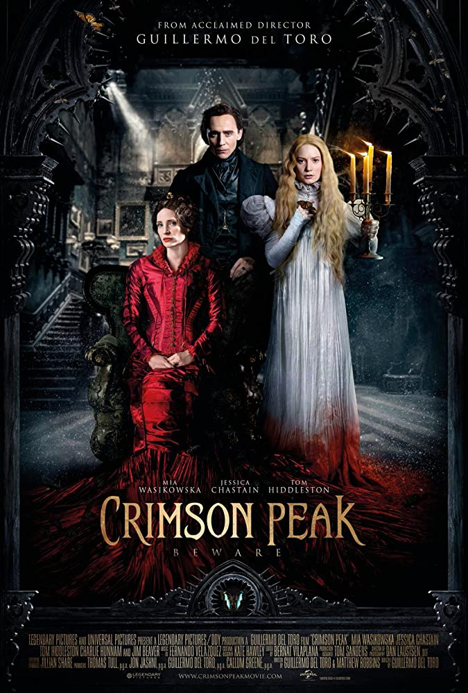 Tom Hiddleston, Jessica Chastain, and Mia Wasikowska in Crimson Peak (2015)