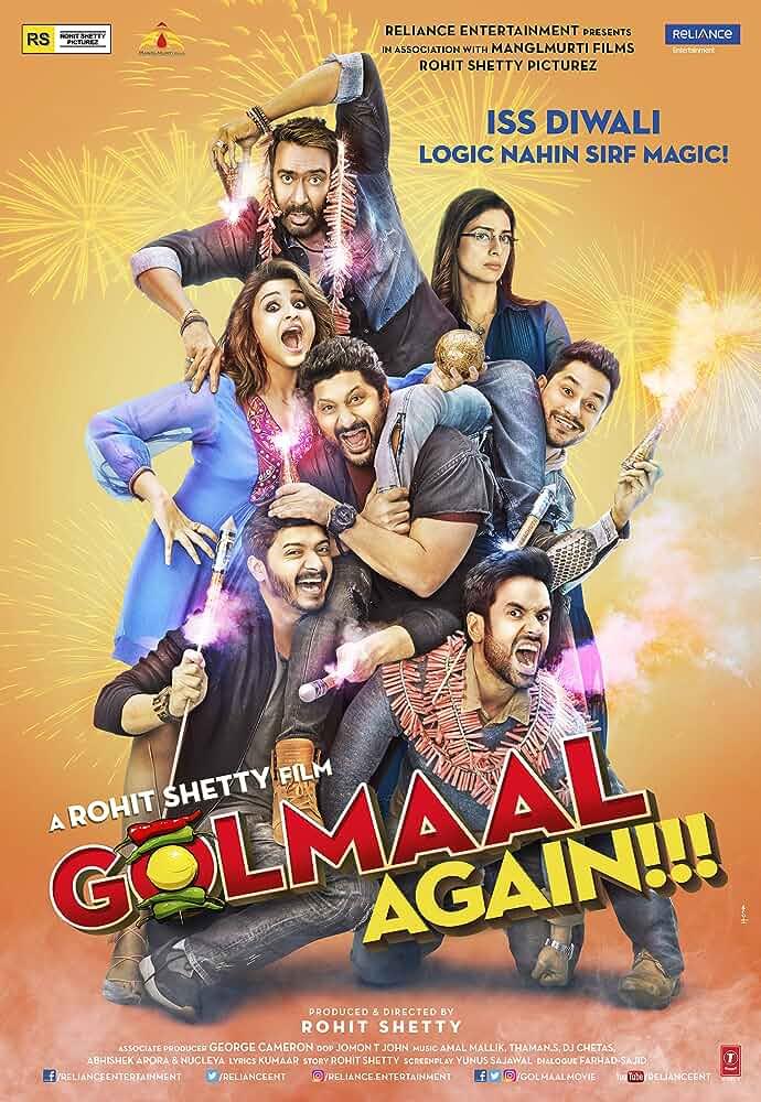 Download Golmaal Again (2017) Hindi Full Movie 480p [400MB] | 720p [1GB]