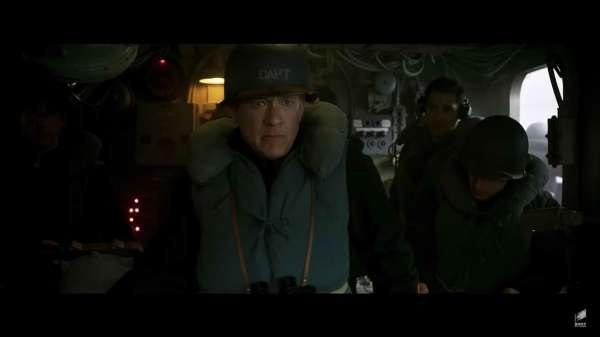 Tom Hanks and Manuel Garcia-Rulfo in Greyhound (2020)