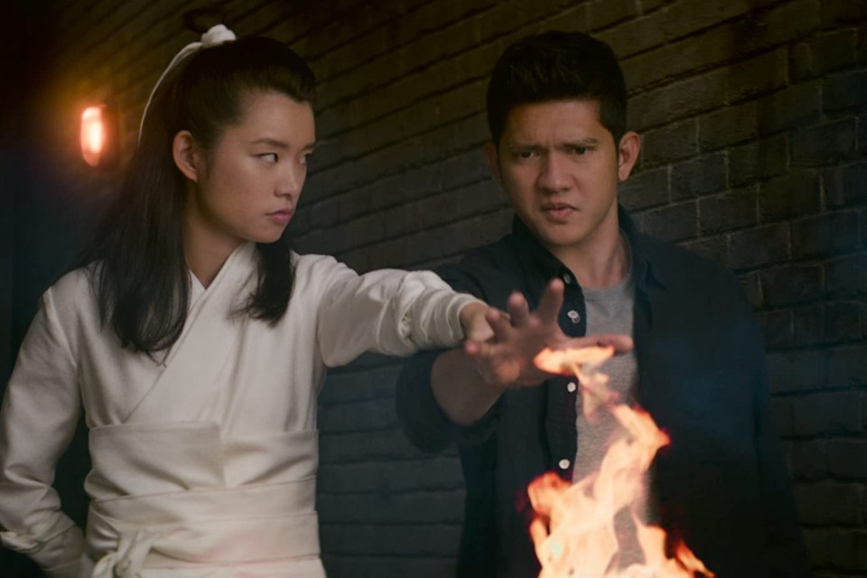 Ying Ying teaching Kai the ways of the Wu Assassin.
