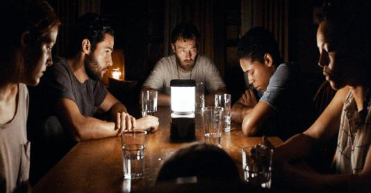 Joel Edgerton, Carmen Ejogo, Riley Keough, Christopher Abbott, and Kelvin Harrison Jr. in It Comes at Night (2017)