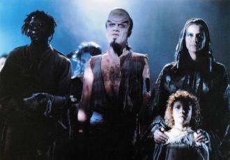 Catherine Chevalier, Nina Robertson, and Nicholas Vince in Nightbreed (1990)