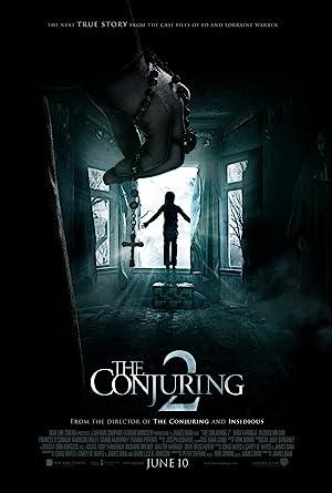 Poster do filme - Invocação do mal 2 - Criança a beira da porta do segundo andar prestes a cometar suicídio