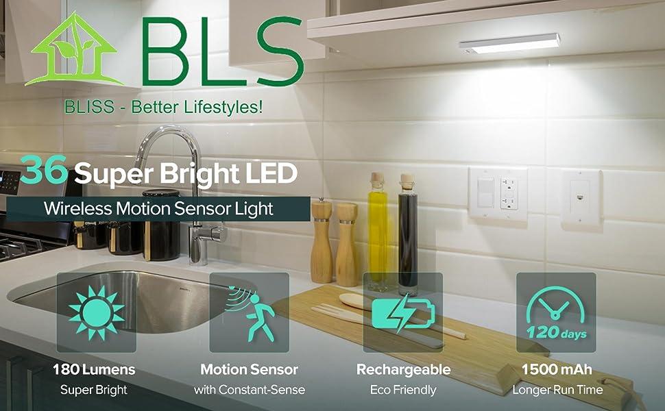 BLS 36 LEDs Super Bright Wireless Motion Light