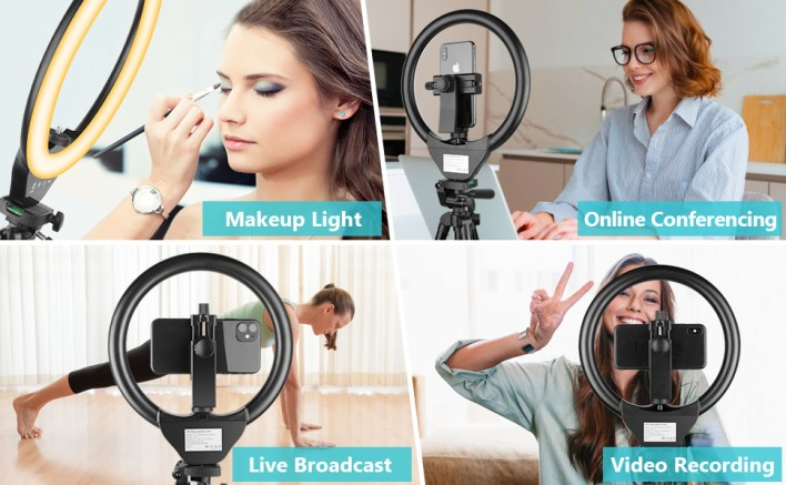 ring light with tripod stand