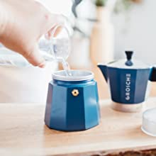 GROSCHE milano blue how to brew stovetop espresso step one