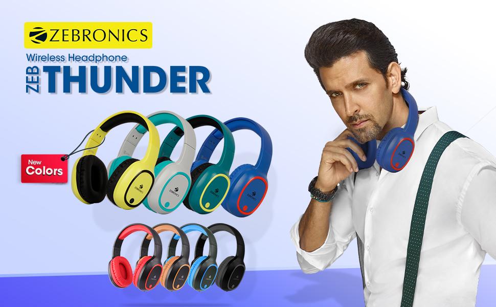 Zebronics Thunder Headphone Wireless and Bluetooth