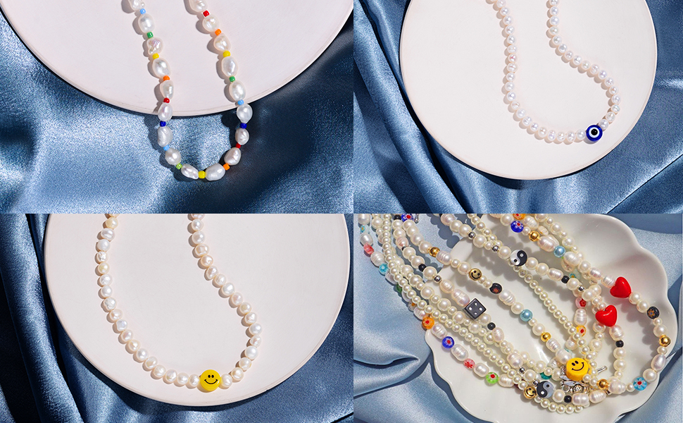 Natural freshwater pearl choker necklace