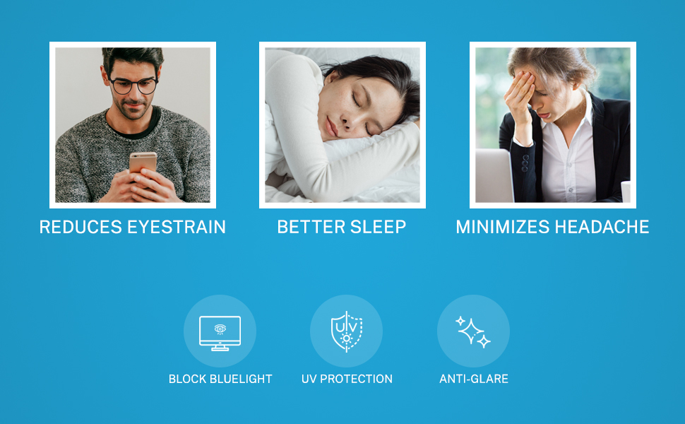 Reduce digital eyestrain with oculy unisex round frame glasses
